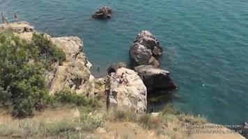 Дикий пляж в Малореченском