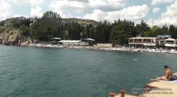 Пляж со стороны пирса в Малореченском