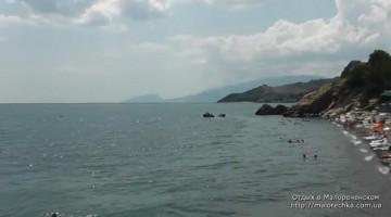 Отдых на пляже в Малореченском