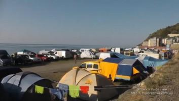Палаточный городок в Рыбачьем