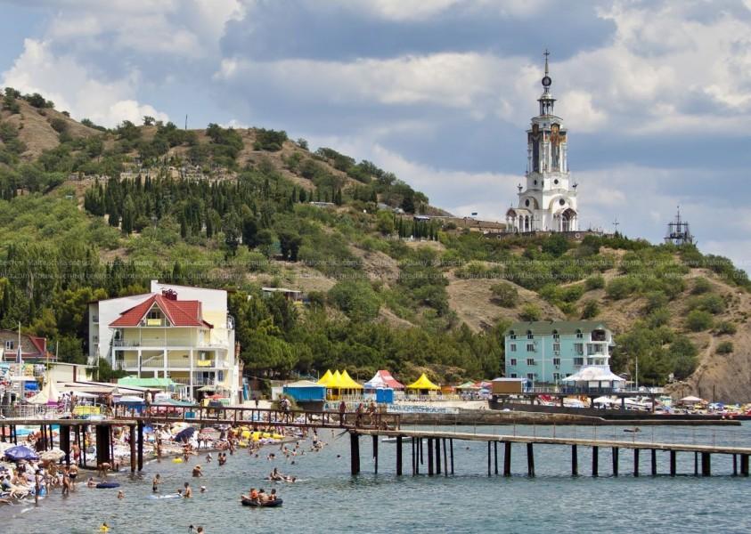 Туристы на отдыхе в Малореченском