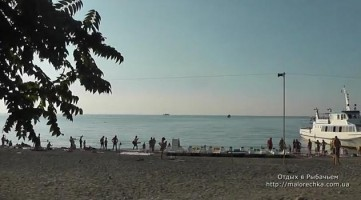 Утро на пляже в Рыбачьем