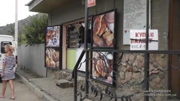 Магазины и киоски на улице в Рыбачьем