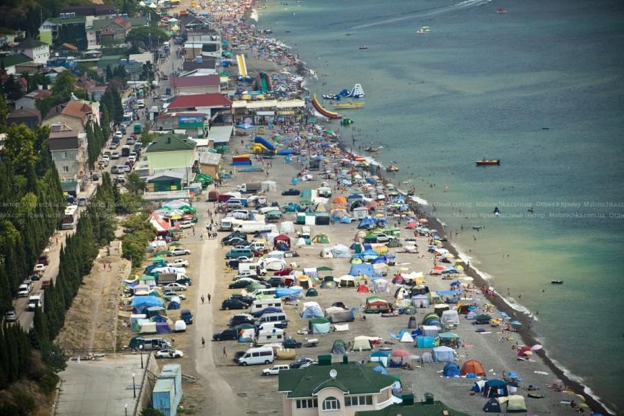 Пляж курорта Рыбачье