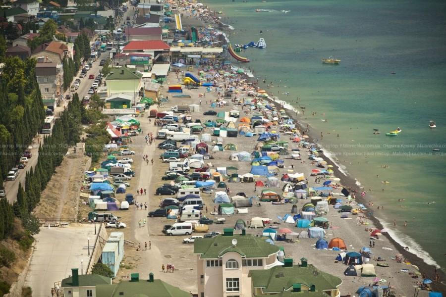 Палаточный лагерь в Рыбачьем