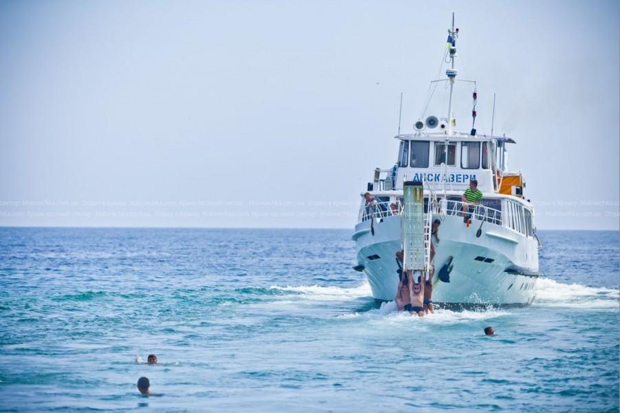 Морская прогулка на теплоходе в Рыбачьем