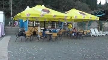 Отдых в кафе на берегу в поселке Рыбачье