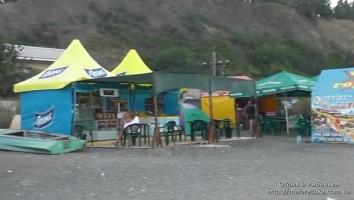 Отдых в кафе на пляже в Рыбачьем