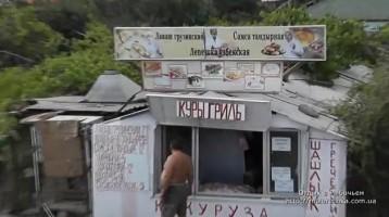 Свежая выпечка и гриль на улицах Рыбачьего