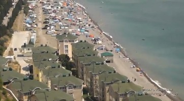 Протяженность пляжной зоны в поселке Рыбачье